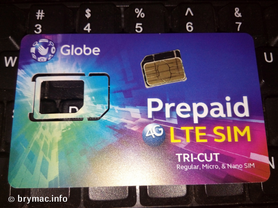 Globe LTE Prepaid Sim Upgrade - brymac